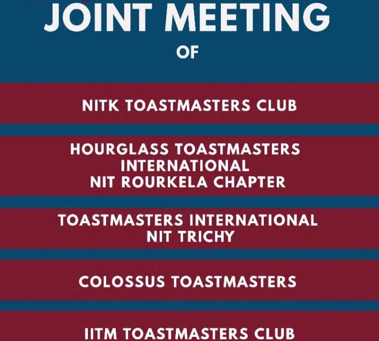 Together We Grow: The Inter NIT-IIT Toastmasters Meet